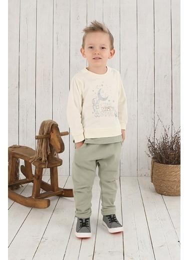 Nila Kids Açık Yeşil Rengi Erkek Bebek Organik Pantalon NK4003AY (3 AY- 5 YAş) Renkli